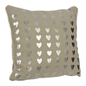 Tan Hearts Kids Pillow