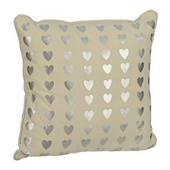 Cream Hearts Kids Pillow