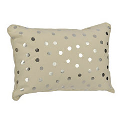 Cream Polka Dot Kids Pillow