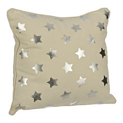 Cream Stars Kids Pillow