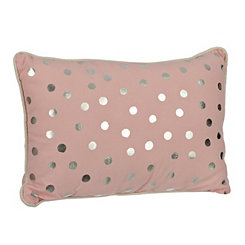 Pink Polka Dot Kids Pillow