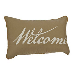 Welcome Script Pillow