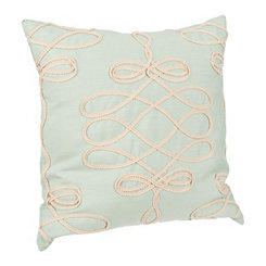 Blue Scroll Applique Pillow