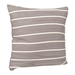 Gray Striped Applique Pillow
