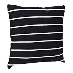 Navy Striped Applique Pillow