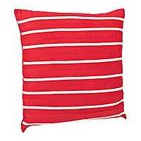 Red Striped Applique Pillow