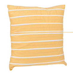 Yellow Striped Applique Pillow