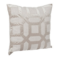 Gray Geometric Pillow