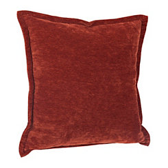Orange Velvet Flange Pillow