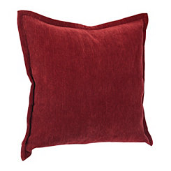 Red Velvet Flange Pillow