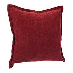 Red Velvet Flange Pillow