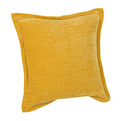 Yellow Velvet Flange Pillow