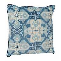 Blue Navajo Velvet Pillow