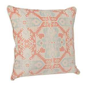 Coral Navajo Velvet Pillow