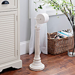 Cream Column Toilet Paper Holder