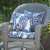 Sorista Indigo Outdoor Pillows, Set of 2