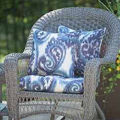 Sorista Indigo Outdoor Pillows, Set of 2