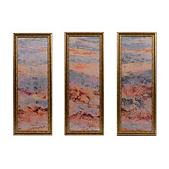 Abstract Geode Mirrored Framed Art Set, Set of 3