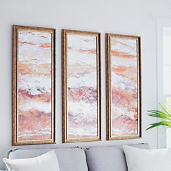 Abstract Geode Mirrored Framed Art Set, Set of 3