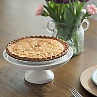 Ribbed White Cake Stand