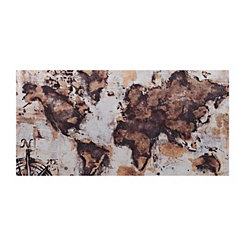 Big Gold World Canvas Art