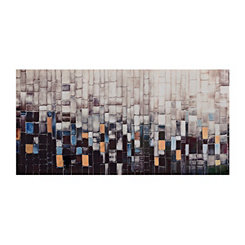 Falling Grid Canvas Art
