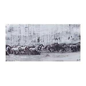 Horse Stampede Canvas Art