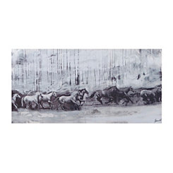 Horse Stampede Canvas Art