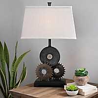 Industrial Metal Gears Table Lamp