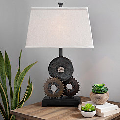 Industrial Metal Gears Table Lamp