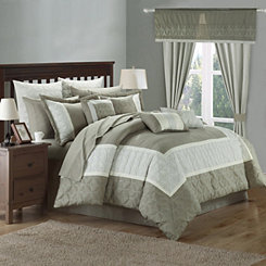 Aideen Taupe 25-pc. King Bedding Room in a Bag