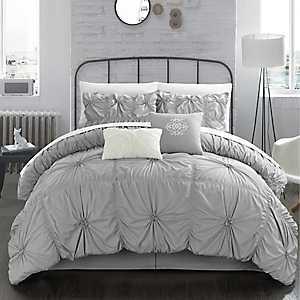 Hyatt Silver 6-pc. Queen Comforter Set