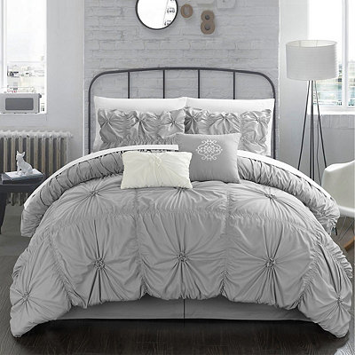 Hyatt Silver 6-pc. Queen Comforter Set