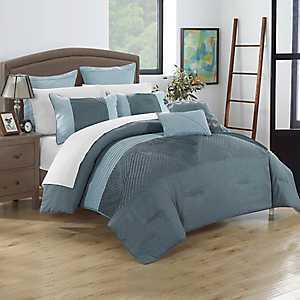 Greta Blue 7-pc. Queen Comforter Set