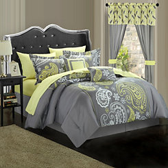 Olinda Gray 20-pc. Reversible Queen Comforter Set