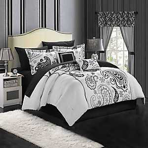 Olinda White 20-pc. Reversible Queen Comforter Set