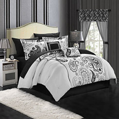 Olinda White 20-pc. Reversible Queen Comforter Set