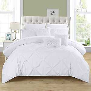 Valentina White 10-pc. Queen Comforter Set