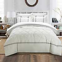 Veronica White 8-pc. Queen Comforter Set