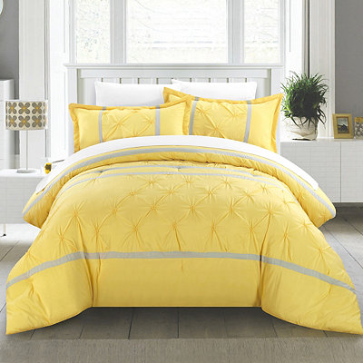 Veronica Yellow 8-pc. Queen Comforter Set