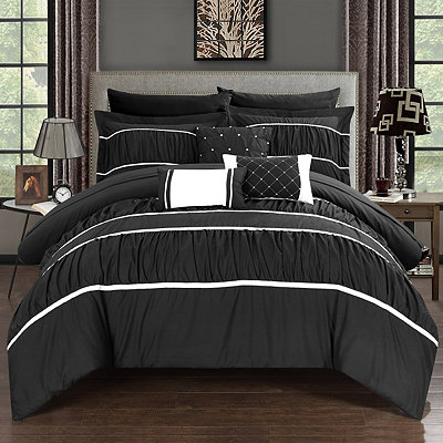 Wanda Black 10-pc. Queen Comforter Set