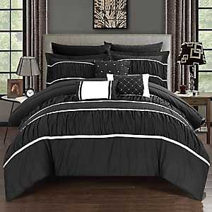 Wanda Black 10-pc. King Comforter Set