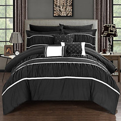 Wanda Black 10-pc. King Comforter Set