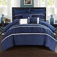 Wanda Navy 10-pc. Queen Comforter Set