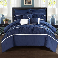 Wanda Navy 10-pc. Queen Comforter Set