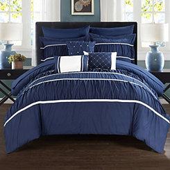 Wanda Navy 10-pc. King Comforter Set