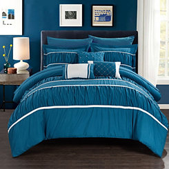 Wanda Teal 10-pc. Queen Comforter Set