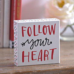 Valentine's Follow Your Heart Word Block