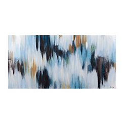 Aqua Ikat Canvas Art
