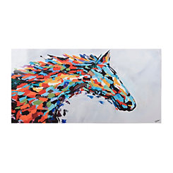 Colorful Horse Canvas Art